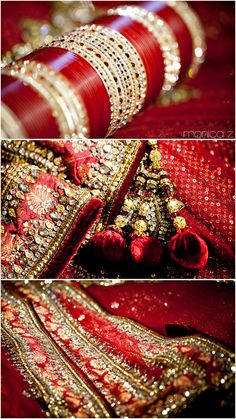All that red. That's what a desi wedding is about. Big Fat Indian Wedding, Indian Bridal Wear, Indian Weddings, Bridal Accessories, Wedding Jewelry, Sikh Wedding, Punjabi Wedding, Wedding Fun, Wedding Album
