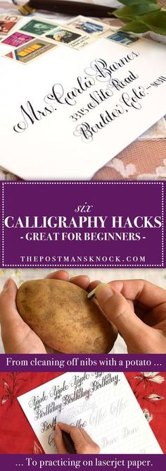 Tips and tricks for writing modern calligraphy!