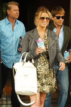 love her hair color + pony with aviators