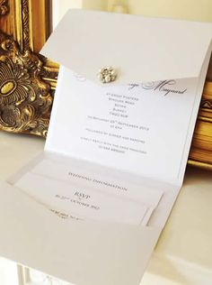 Duchess Pocket Fold Wedding Invitations - ELS Design  WWW.ELS-DESIGN.COM