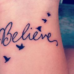 believe tattoo wrist | Right Wrist Tattoo: Bird-Wrist-Tattoo