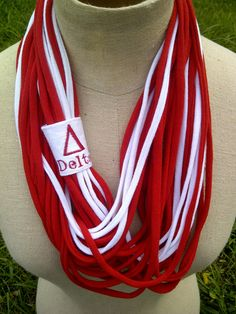 Delta Sigma Theta  (DST) Scarf/ Necklace. $27.00, via Etsy.