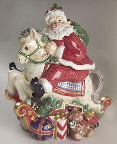 Santa's List biscuit barrel by Fitz & Floyd.