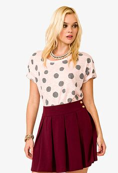Polka Dot Burnout Top | FOREVER 21 - 2045110502