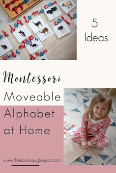 5 ways to use a Montessori moveable alphabet at home Alphabet Activities Kindergarten, Letter Sound Activities, Preschool Phonics, Kids Learning Activities, Montessori Activities, Learning Letters, Montessori Elementary, Language Activities, Preschool Ideas