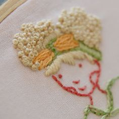 How to embroider hair