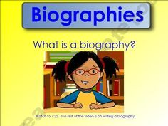 MaureenMcD Shop - biography-smartboard-lesson | Teachers Notebook