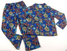 Disney Toy Story Boys Pajamas 2PC Set Size 5T Top Bottoms Blue Flannel #Disney #TwoPiece