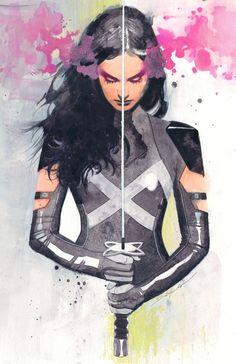 X-Men Psylocke by Jeff Dekal Comic Book Characters, Comic Book Heroes, Marvel Characters, Comic Character, Comic Books Art, Comics Anime, Comic Manga, Marvel Comics Art, Marvel Heroes