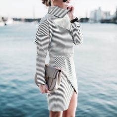 Top and skirt Need Supply co. and beautiful Chloé bag. #happilygrey