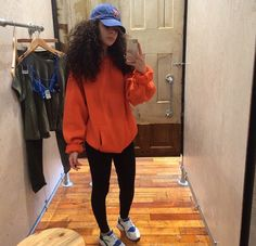 Sweater orange sweater cute fall outfits winter outfits dope swag teenagers girl back to school bedroom Tomboy Fashion, Fashion Killa, Look Fashion, Chill Outfits, Cute Fall Outfits, Dope Outfits, Fashion Outfits, Easy Outfits, Casual Outfits For Teens