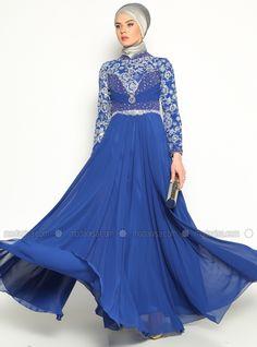 Robe de soirée Sequin - Saxe - Asbella Abiye