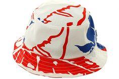 HUF Copacabana Bucket Hat - White, Red, Blue | Hat Club