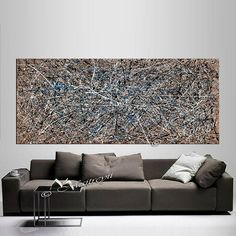 Largeartwork Collection - Decorate your home or office with original, large, abstract, oil and acrylic paintings created by the renowned Dallas, Texas artist Maitreyii.  ABOUT THIS PAINTING:  The Luxurious Moment abstract art selection, from the Largeartwork Collection, is original,