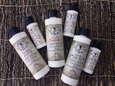 8 oz and 2 oz Sister Sky body lotions. Sweet Grass. White Willow. Kevin's Care.