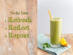 Green Smoothie! Kale & Mango. So refreshing!
