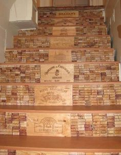 If you love wine,  you will love this project for your steps.