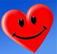 A happy heart makes the face cheerful, but heartache crushes the spirit. Smileys, I Love Heart, Happy Heart, My Heart, Just Smile, Smile Face, Valentine Heart, Valentines, Happy Smiley Face