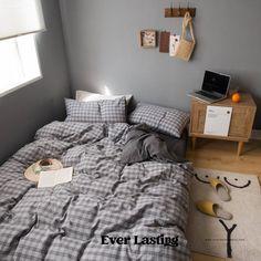 Ever Lasting Blue Plaid Bedding Set Blue Plaid Duvet Cover | Etsy Plaid Bedding, Ruffle Bedding, Twin Xl Bedding, Dorm Bedding, Blue Bedding Sets, Queen Bedding Sets, Bed Sheet Sizes, Bed Sizes, Stylish Beds