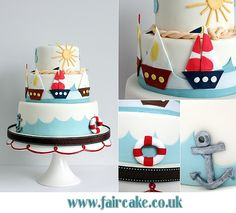 Sailing Cake by Fair Cake, via Flickr (link does not lead to a tutorial).