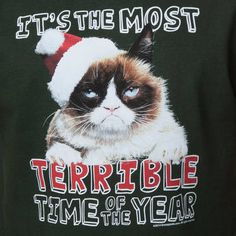 Grumpy Cat Terrible Christmas T-Shirt