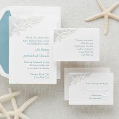 Starfish Wedding Invitation | #exclusivelyweddings | #lightbluewedding