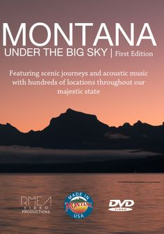 """A genuine Made in Montana product featuring scenic journeys and acoustic music with hundreds of locations throughout our majestic state. Approximately 73 minutes of run time showcasing professional scenic images, acoustic guitar melodies, and 14 chapters of Montana beauty including wildlife, smoke jumpers, skiing and more. Enjoy the 4 Seasons and what makes Montana """"The Last Best Place"""". All images contained in this DVD are available as mail order print art. Contact us for bulk order…"""