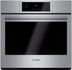 Bosch HBL8451UCX 30 Inch Single Electric Wall Oven with True Convection, EcoClean™, QuietClose™, SteelTouch™, 12 Cooking Modes, Telescopic Rack, 4.6 cu. ft. Capacity, Star-K Certified and Sabbath Mode