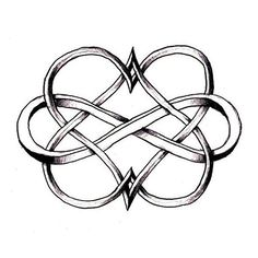 Could be a cute tattoo idea. Two hearts intertwined with an infinity sign. Each heart in the birthstone colour for him and her, and the infinity sign in the birthstone colour for the month they got married. Paar Tattoos, Neue Tattoos, Piercings, Piercing Tattoo, Mother Daughter Tattoos, Tattoos For Daughters, Mother Daughters, Sister Tat, Tatoo Dog