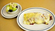 Food-IHOP. Turkey bacon and swiss cheese omelette