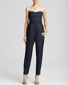 MILLY Jumpsuit - Bustier Iridescent | Bloomingdale's