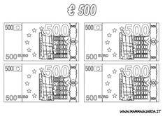 Risultati immagini per euro da colorare e ritagliare
