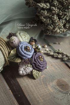 """Купить Брошь """"Вербена"""" - фиолетовый, сиреневый, сиреневый цвет, сиреневая брошь, сиреневые оттенки, вербена"""