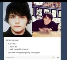 Gerard Doesn't Age ... He's a vampireeee