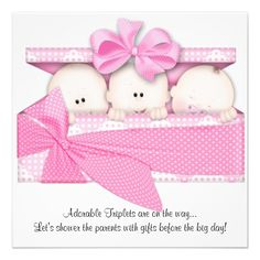 20 Best Triplet Baby Shower Invitations Images