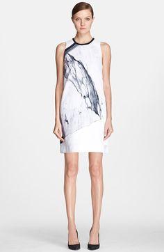 Helmut Lang 'Hydra' Print Crepe Shift Dress available at #Nordstrom--great seasonal transition dress.