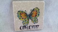 "Whimsical Stone ""Grow"" Plaque by PixieMoonTreasures on Etsy"