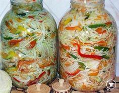 Conserve Archives - Page 3 of 14 - Bucatarul. Top Salad Recipe, Salad Recipes, Vegan Recipes, Georgian Food, Romanian Food, Russian Recipes, Canning Recipes, Mediterranean Recipes, Food Storage