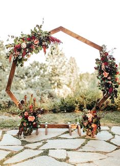 Fresh Favorites for Unique Boho Weddings from Etsy Wooden geometric wedding arch with floral swag for bohemian ceremony Wedding Ceremony Ideas, Fall Wedding Arches, Rustic Wedding Backdrops, Wedding Arch Rustic, Boho Wedding, Backdrop Wedding, Wedding Archways, Wooden Wedding Arches, Wedding Reception
