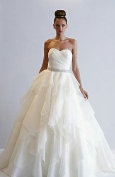 Alita Graham - Sweetheart A-Line Gown in Silk Organza