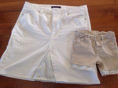 Recyclage des pantalons trop courts ou tachés pour préparer le printemps.