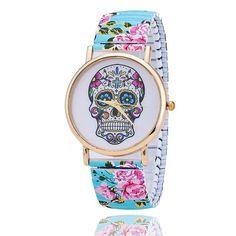 Mexican skull accessoire de mode NEUF Bracelet Tête de mort Mexicaine élastique
