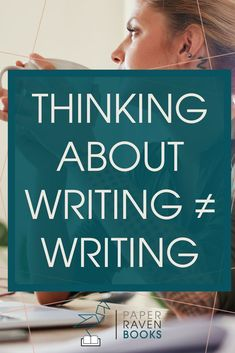 """We've all pulled this excuse before: """"I just need some more time to think this through before I start writing"""". But the truth is that thinking is not writing. Ready to stop procrastinating and start writing? Check out this post! Writing Advice, Start Writing, Writing Help, Writing Skills, Writing A Book, Writing Ideas, Writer Tips, How To Stop Procrastinating, Writing Process"""