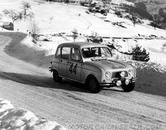 Renault 4 Manzon - Melot  68º  Rallye Monte-Carlo 1963