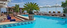 Rooftop swimming pool and bar in Positano - Hotel Villa Franca- Bliss....................