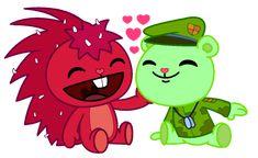 Friend Cartoon, Friend Anime, Couple Cartoon, Cartoon Shows, Happy Tree Friends Flippy, Gurren Laggan, Htf Anime, Anime Butterfly, Dont Hug Me