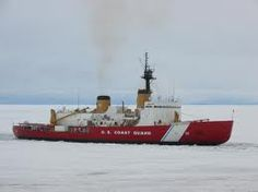 The United States Coast Guard Cutter Polar Sea. WAGB 11.  There are times when you are the trail blazer.  The Ice Breaker is opening a path for shipping to the open sea.