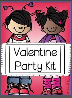 "Take the stress out of your Valentine's Day party with this kit.  This post also has a bunch of tips to help with all of those ""glitches"" that happen.  *Letter to parents asking for supplies and help with the party *7 Valentine's Day BINGO cards - colorful version  *7 Valentine's Day BINGO cards -black & white version  1 blank one if case you want your students to make their own BINGO card *24 Valentine word cards for BINGO game *Directions for stations paid"