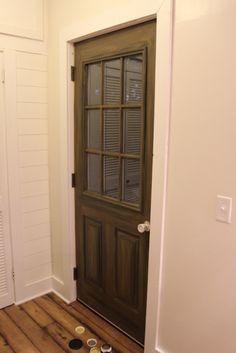 faux wood painted door