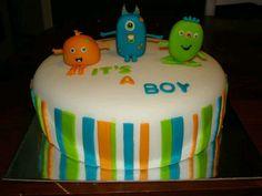 monster baby shower   Monster baby shower cake-Aug. 2012   baby shower/gift ideas